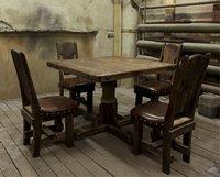 Стол и стулья в стиле шале