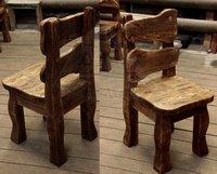 Деревянные стулья в стиле шале
