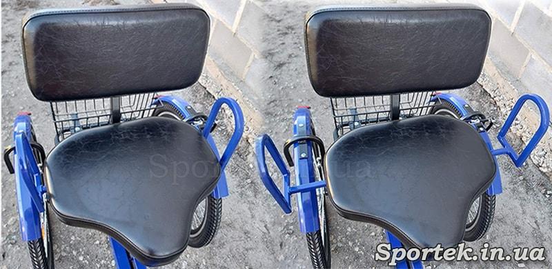 Раздвижные ручки на креслах трехколесных велосипедов серии Атлет