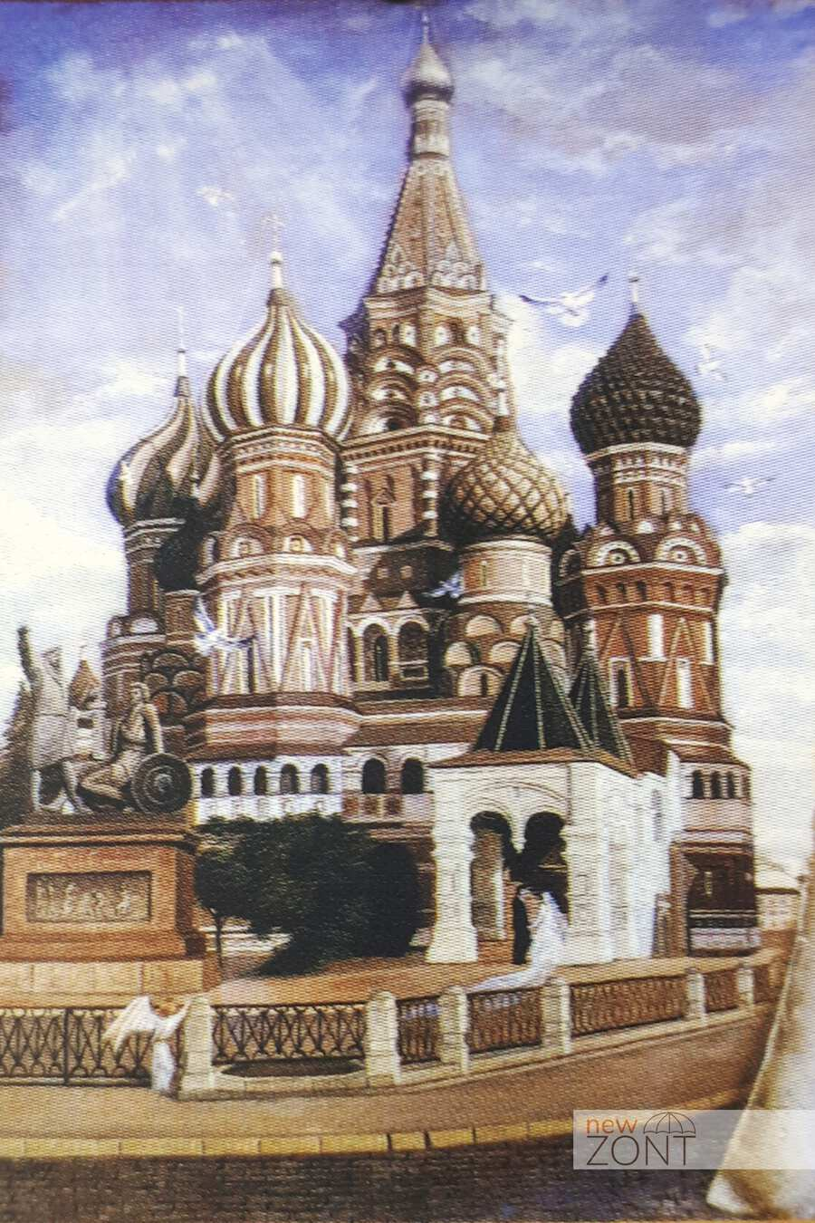 картина Никаса Сафронова «Собор Василия Блаженного»