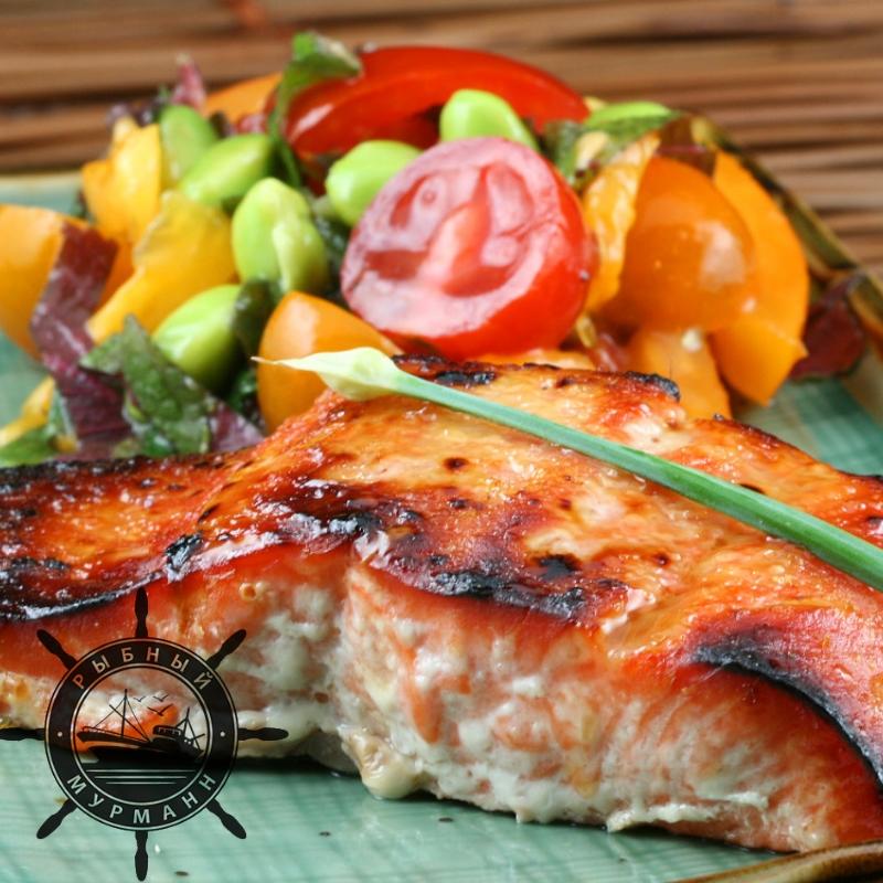 Семга на гриле с овощами - от Рыбного Мурманна!