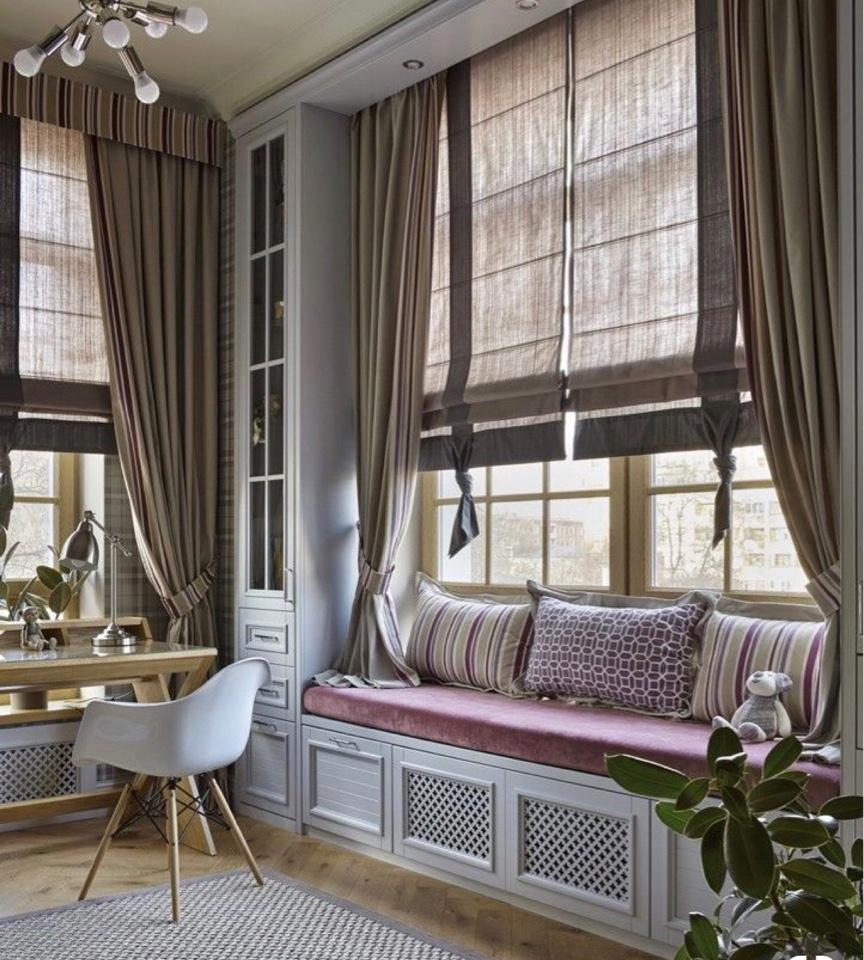 Дизайн окон шторы