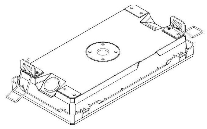 Комплект креплений для встраиваемой установки аварийных светильников серии EXIT