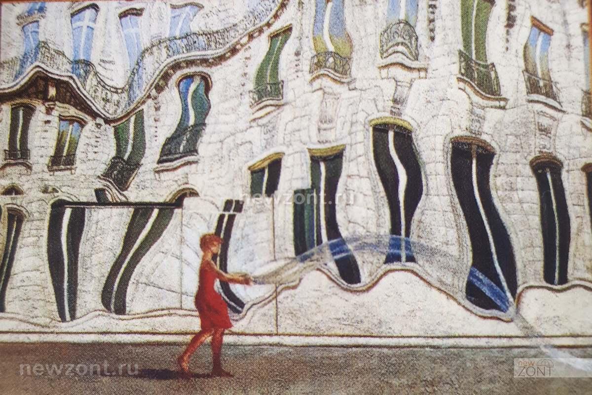 """Картина Никаса Сафронова """"Королевство кривых зеркал"""""""