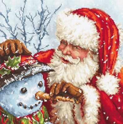 Санта Клаус и снеговик оптом