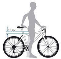 Правила підбору висоти велосипеда