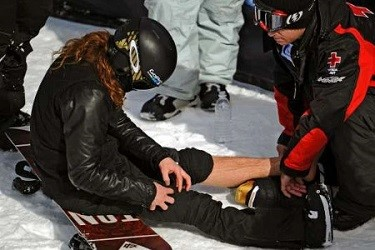 сноуборд колено