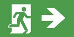 Табло с указанием направления движения к эвакуационным выходам для указателя аварийного освещения ESC-10