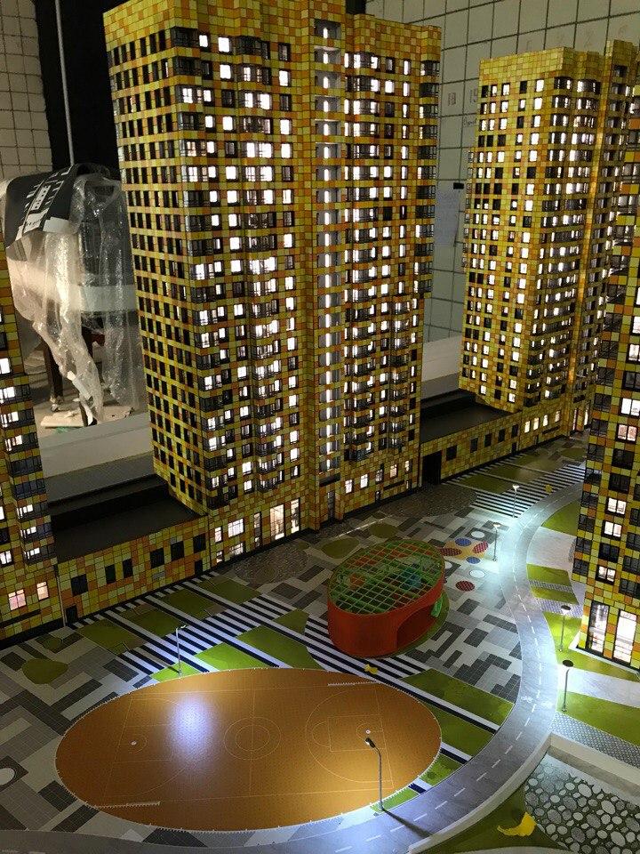 макет жилой комплекс