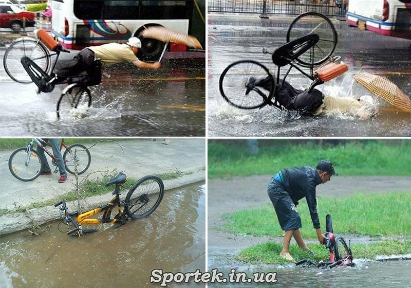 Особливості їзди в дощ по краю дороги
