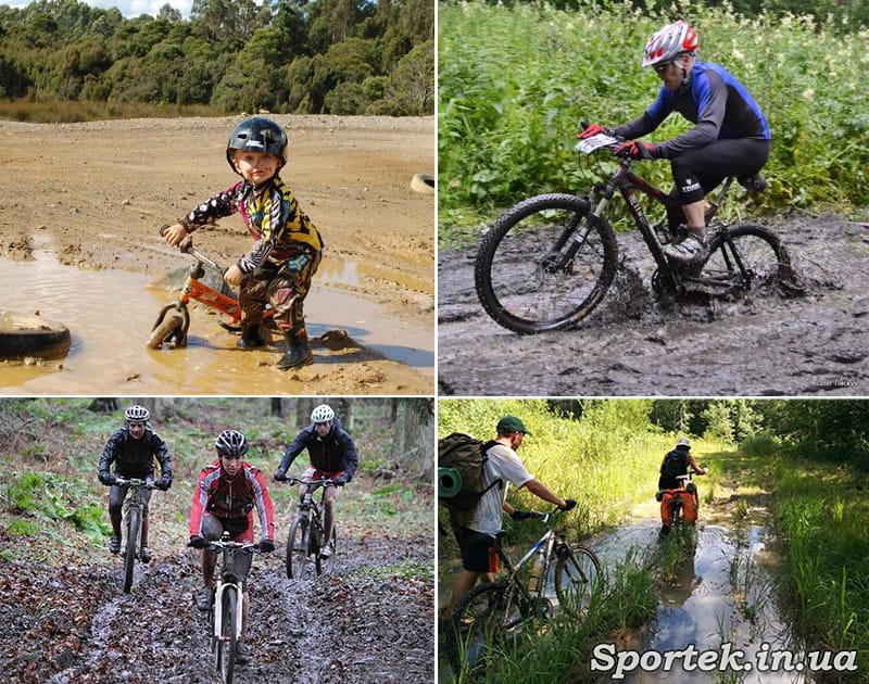 На велосипеді по бруду