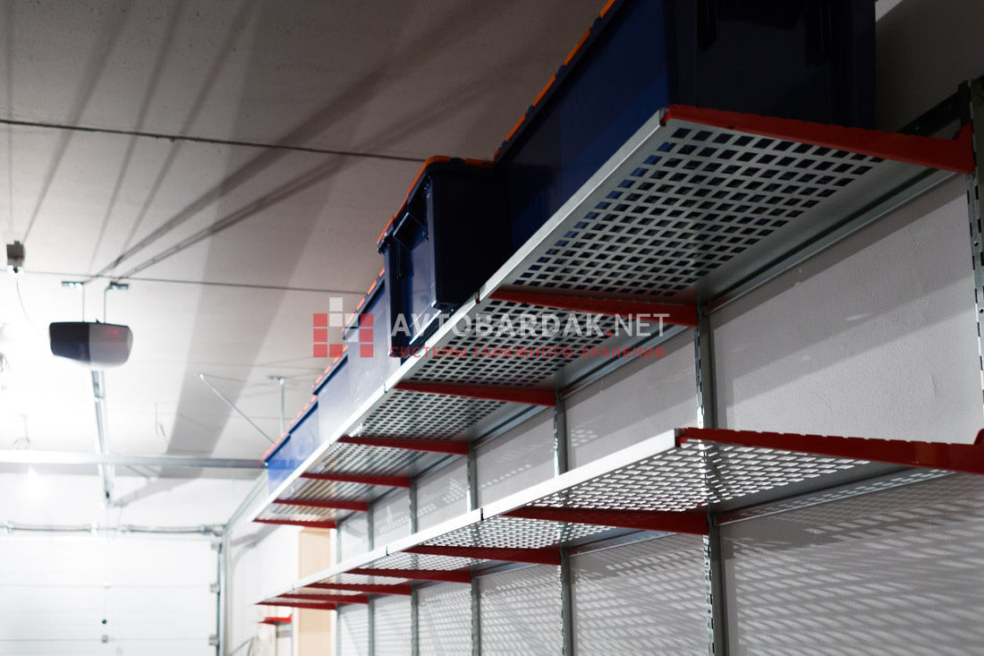 Железные полки на стену гаража