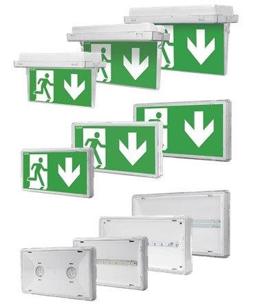 Семейство аварийных светильников серии EXIT