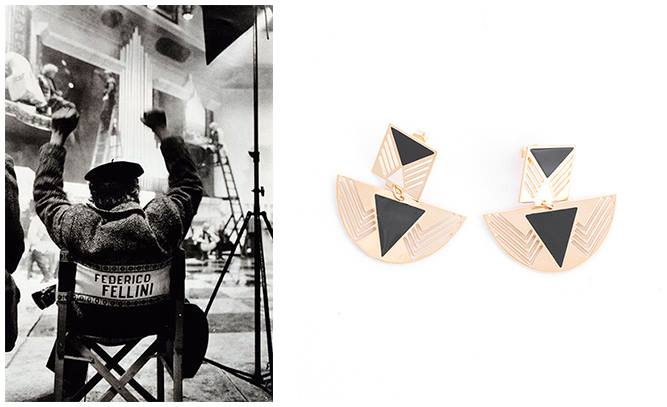 серьги Fellini от CHIC ALORS Paris в интернет-магазине Modbrand.ru