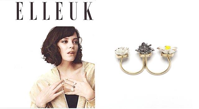 Певица Лили Аллен и её кольцо Trio Flower от ANDRES GALLARDO