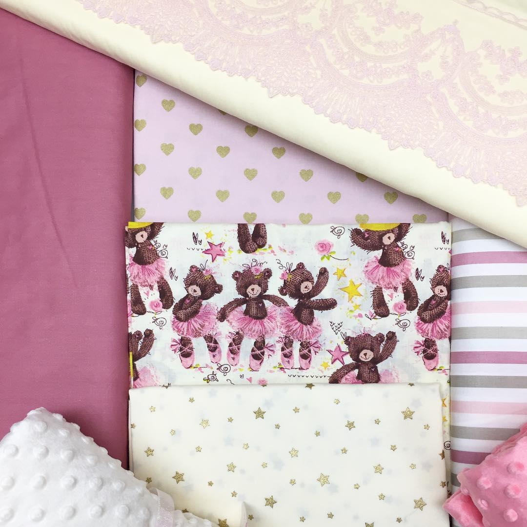 Ткани для бортиков в кроватку девочке