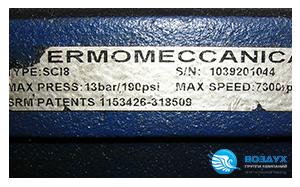 Шильдик винтового блока Termomeccanica SCI 8G