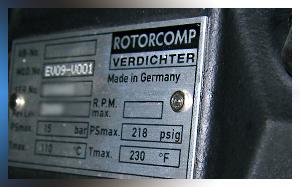 Ремонт винтового блока Rotorcomp EVO 9