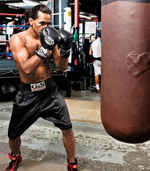 Фото тренировки с боксерской грушей 55 кг