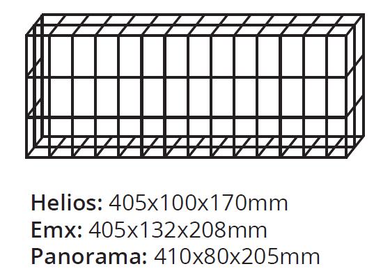 Размеры для защитной сетки светильника
