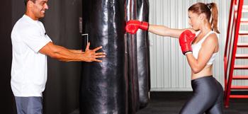 Фото тренировки с боксерской грушей 60 кг