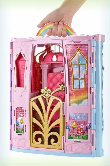 Переносной радужный дворец и кукла Barbie FRB15