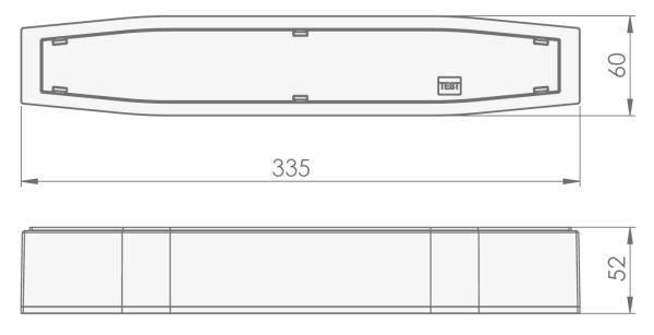 Размеры аварийного светодиодного светильника для высоких помещений IP54 Suprema LED SOH NT Intelight
