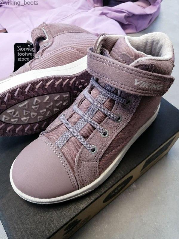 Полуботинки Viking Leah Mid GTX Sneaker Dusty Pink/Light Lilac демисезонные