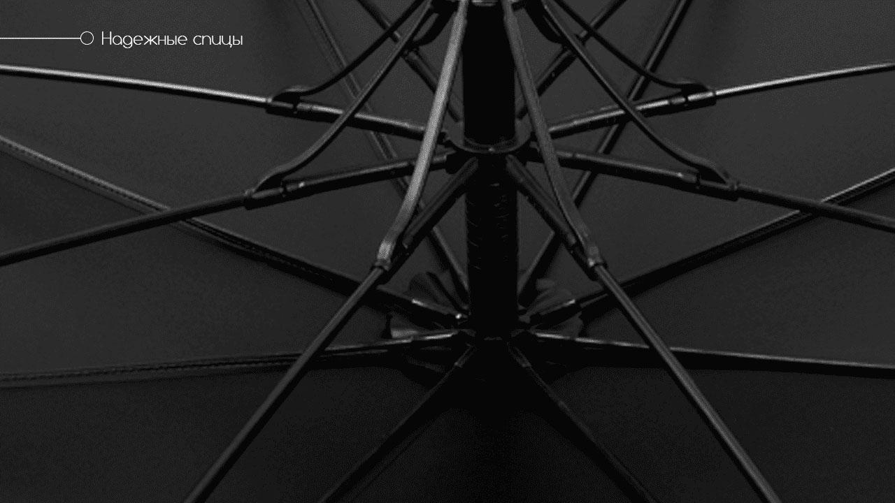 Премиальный зонт трость полуавтомат черный | Vendetta