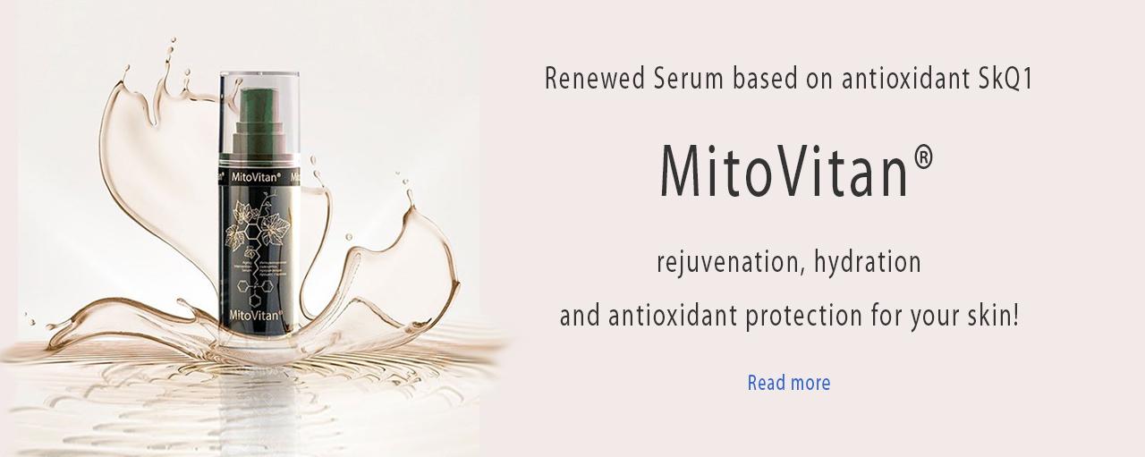 Сыворотка МитоВитан с антиоксидантом SkQ1 (Ионы Скулачева) - омоложение и увлажнение кожи