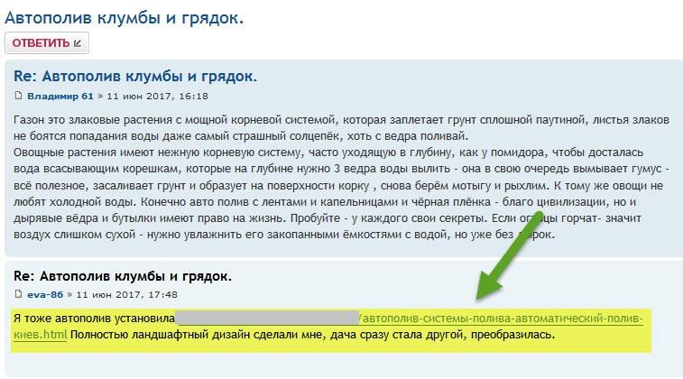 Пример крауд-маркетинга на форуме