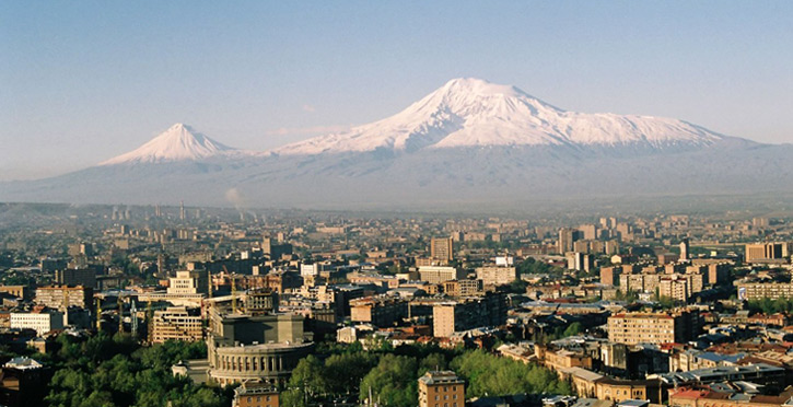 Продукты из Армении: вид из Еревана на гору Арарат