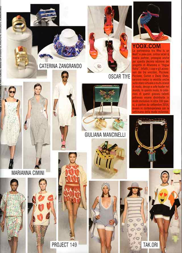 украшения Giuliana Mancinelli Bonafaccia в Vogue Italia September