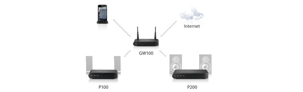 Сетевой плеер-усилитель NuVo NV-P100-EU