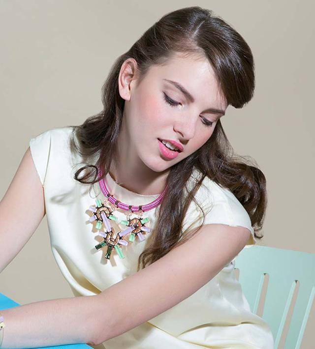 Колье Rose Gold with emerald от Giuliana Mancinelli в интeрнет-магазине Modbrand.ru