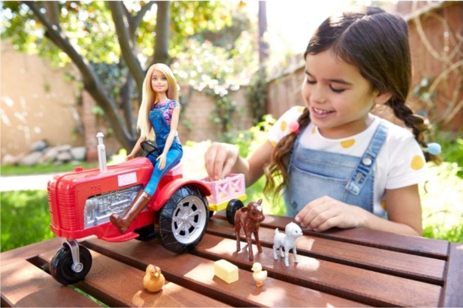 Игровой набор Barbie - Farmer & Tractor