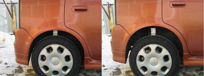 Пример того на сколько пневмобаллоны поднимают автомобиль