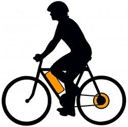 Заднее мотор-колесо и аккумулятор в раме