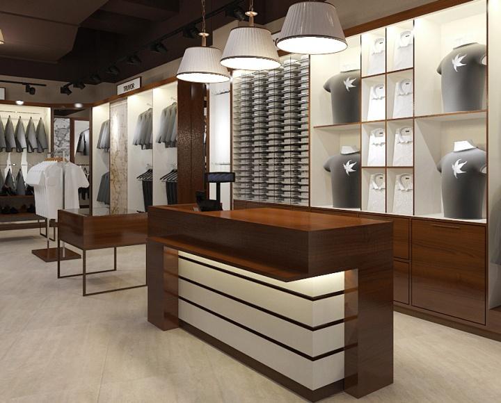 Простые люди могут побояться заходить в магазин одежды с дорогой мебелью