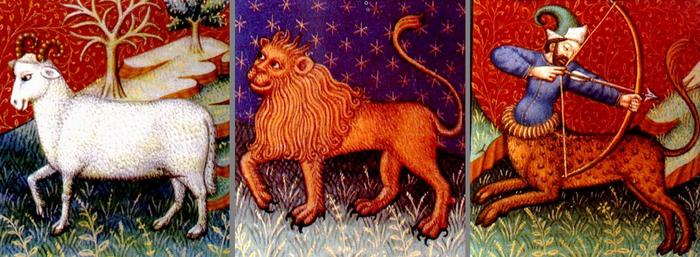 стихия огня - овен, лев, стрелец
