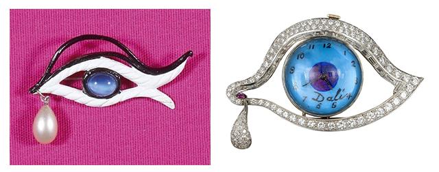 украшения в форме глаз от Сальвадора Дали и Эльзы Скиапарелли и Jennifer Loiselle