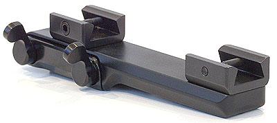 Быстросьемный кронштейн MAK с кольцами диаметром 25.4 мм и высотой 10 мм для установки на призму 12 мм