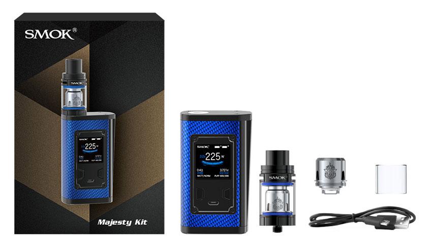 Комплектация SMOK Majesty Carbon Fiber + TFV8 X-Baby Kit