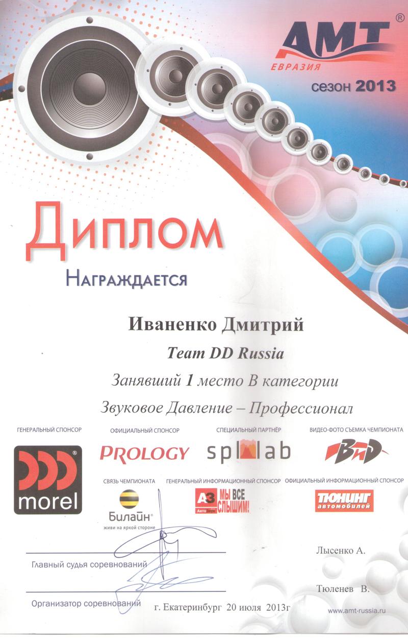 1 место АМТ Екатеринбург 2013г