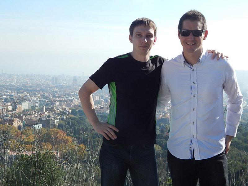 Сергей Молчанов и Джокин, представитель Индиба, который занимался его вопросами в Барселоне