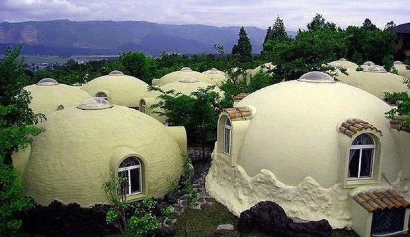 пенопластовые дома в Японии.