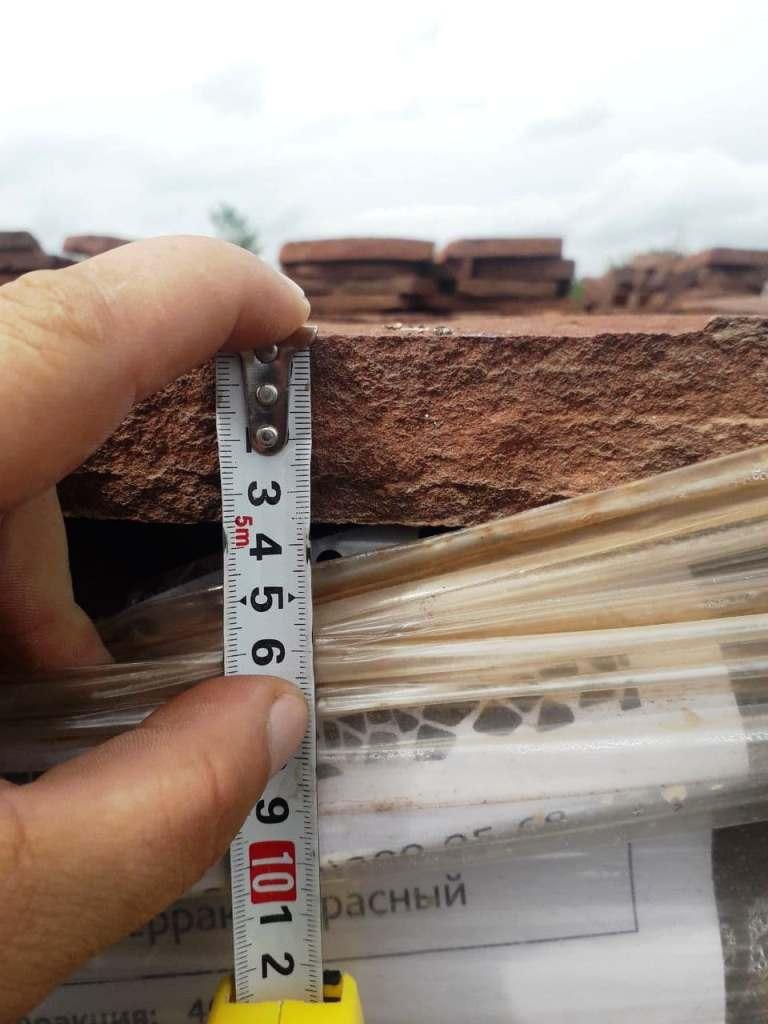 Измерение толщины камня