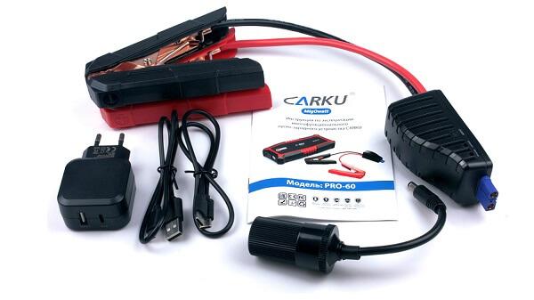 Комплектация мощного пускового устройства Carku PRO-60