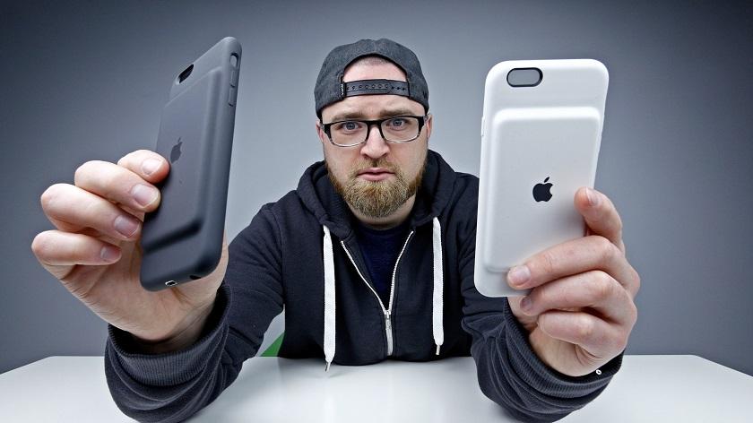 Оригинальныйчехолсо встроеннымаккумулятором Apple Smart Battery Case для iPhone 6 / 6S.
