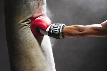 Фото тренировки с боксерской грушей 90 кг